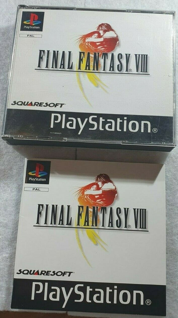 Final Fantasy VIII Black Label Sony Playstation 1 (PS1) Game