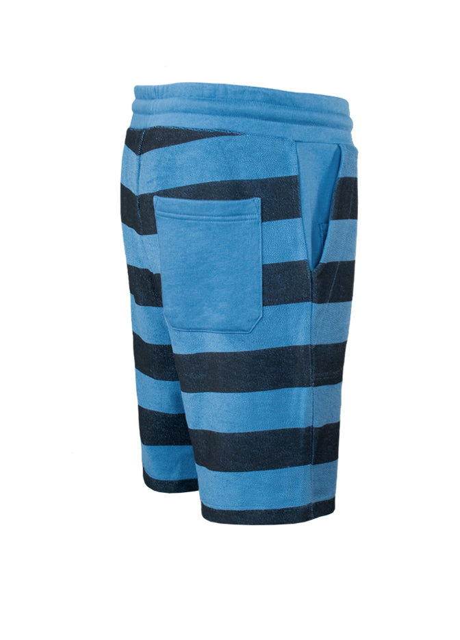 Nuffinz Shorts Organic Cotton The Bluesteel Striped Sideback