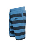Nuffinz Shorts Organic Cotton The Bluesteel Striped Sidefront