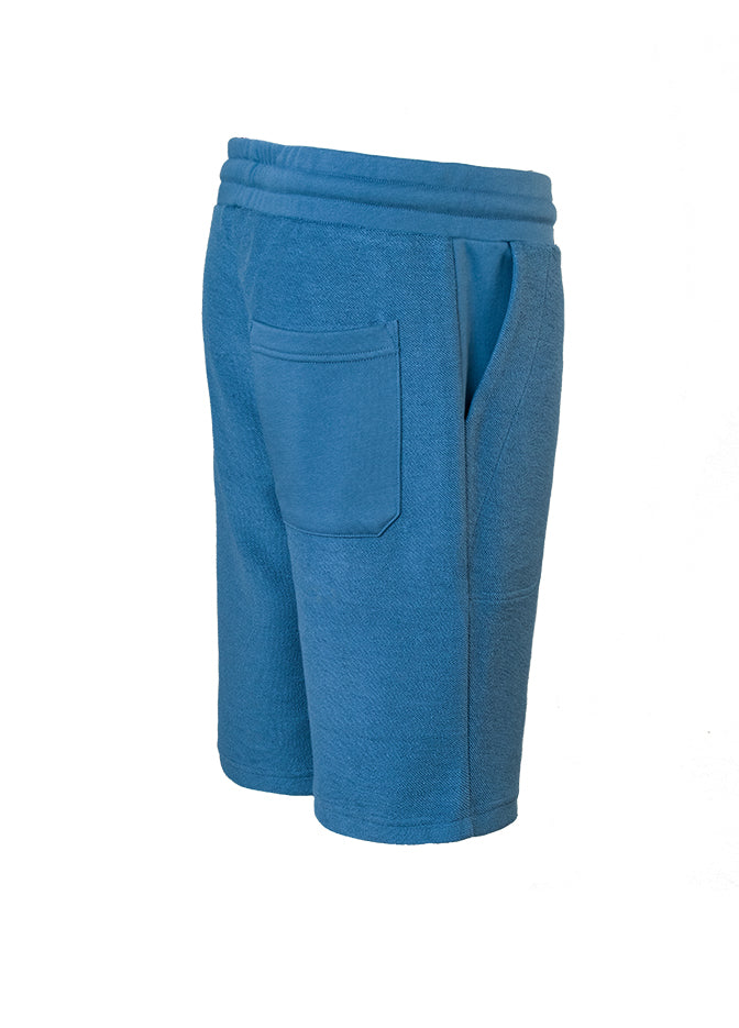 Nuffinz Shorts Organic Cotton The Bluesteel Unicolor Sideback