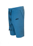 Nuffinz Shorts Organic Cotton The Bluesteel Unicolor Sidefront