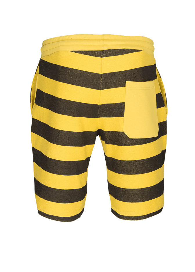 nuffinz the bumblebee striped shorts back