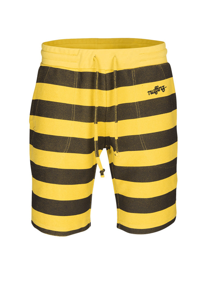 nuffinz the bumblebee striped shorts front