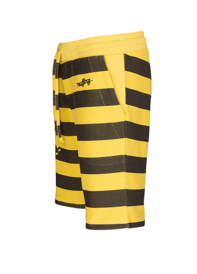 nuffinz the bumblebee striped shorts side