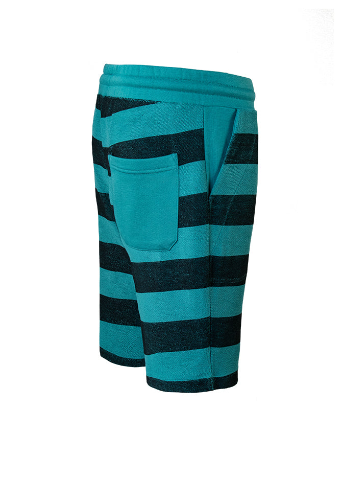 Nuffinz Shorts Organic Cotton The Deep Jungle Striped Sideback