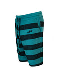 Nuffinz Shorts Organic Cotton The Deep Jungle Striped Sidefront