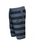 Nuffinz Shorts Organic Cotton The Ebony Striped Sidefront