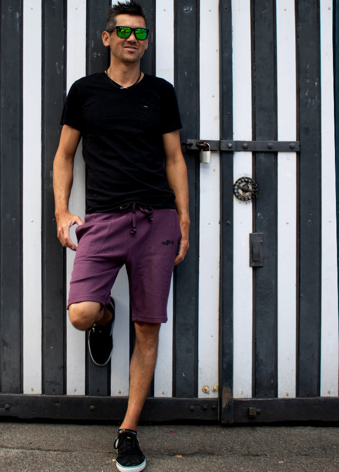 Nuffinz Shorts Organic Cotton The Eggplant Unicolor Emmanuel