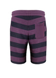 nuffinz the ebony striped shorts back