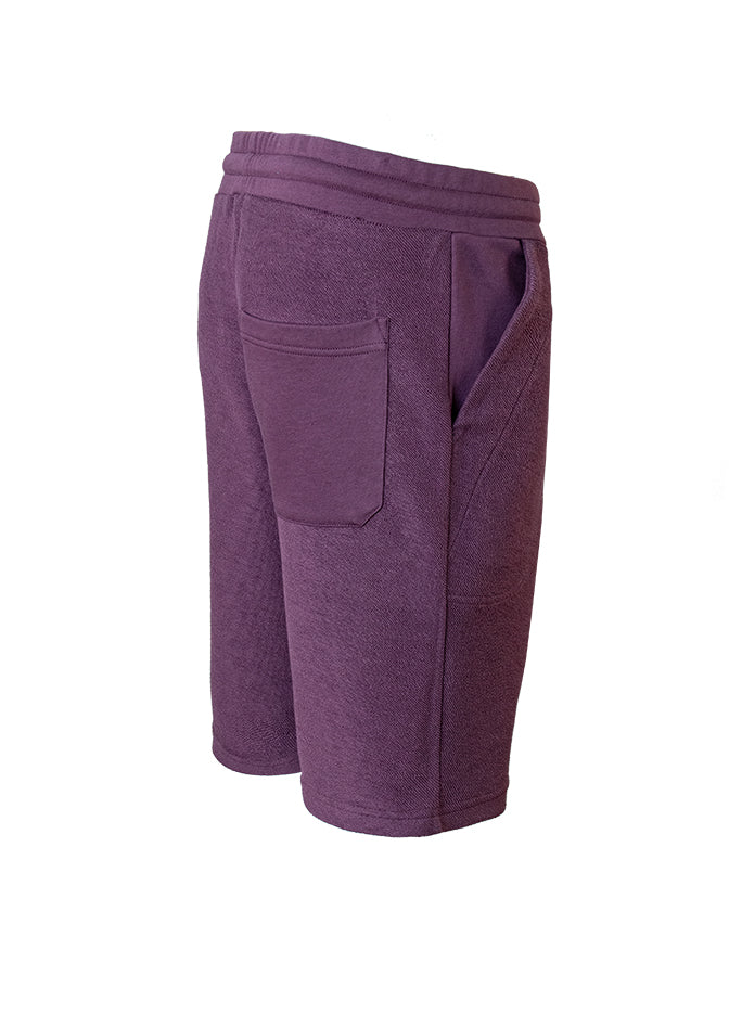 Nuffinz Shorts Organic Cotton The Eggplant Unicolor Sideback