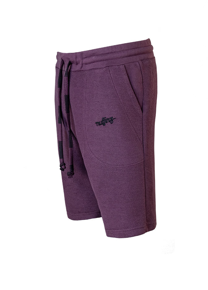 Nuffinz Shorts Organic Cotton The Eggplant Unicolor Sidefront