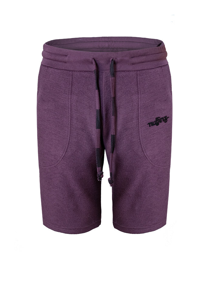 Nuffinz Shorts Organic Cotton The Eggplant Unicolor