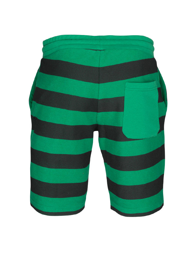 nuffinz the grasshopper striped shorts back