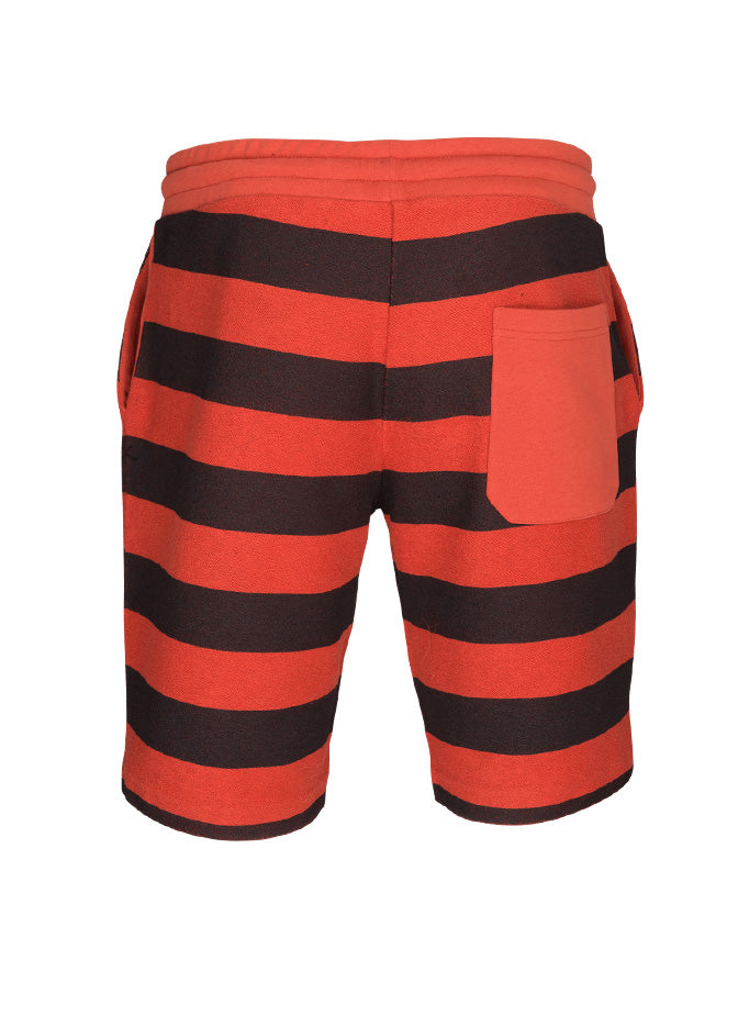 nuffinz the tiger striped shorts back