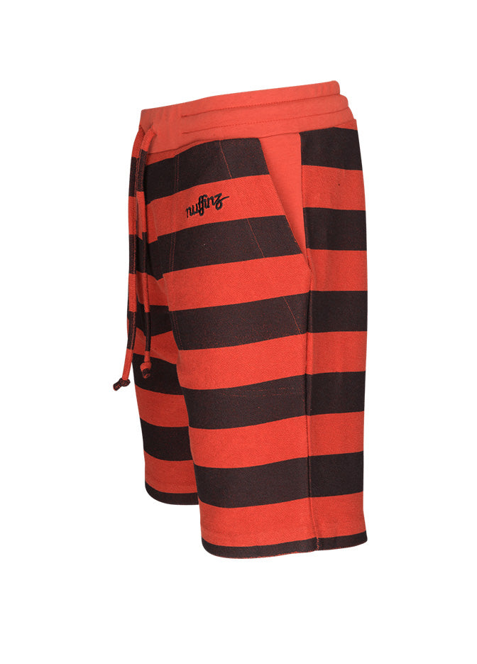 nuffinz the tiger striped shorts side
