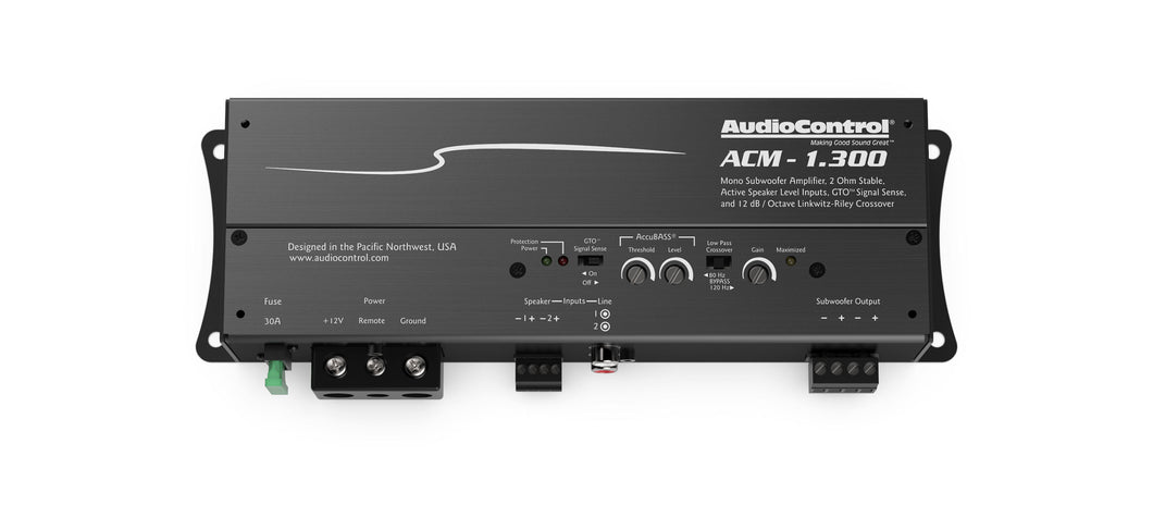 Audio Control ACM 1.300 300 Watt Mono Block Amp With Built In LC2I And ACCUBASS