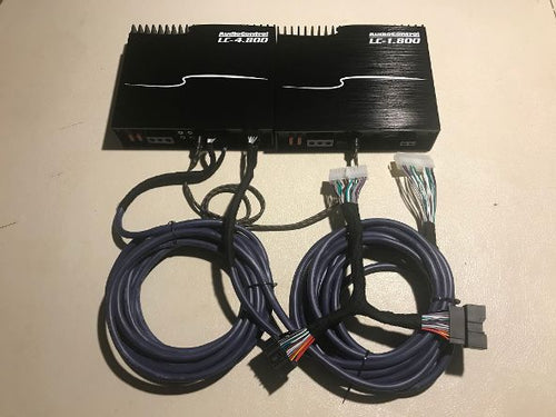 AudioControl LC-1.800 And LC-4.800 High-Power Mono Subwoofer Amplifier & 4 Channel Amp  With Built In LC2I  & Ford Harness