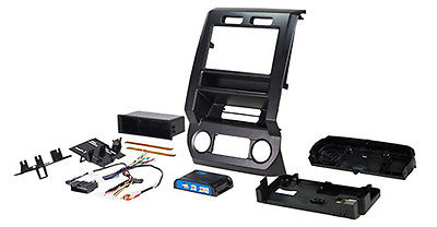 "Complete Radio Replacement Kit with Integrated Climate Controls for select Fords with 4.2"" Display"