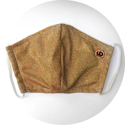 FABRIC FACE MASK - Gold Bling