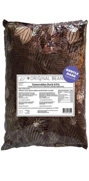 Esmeraldas Dark Milk Couverture Chocolate Buttons (65%) 2kg