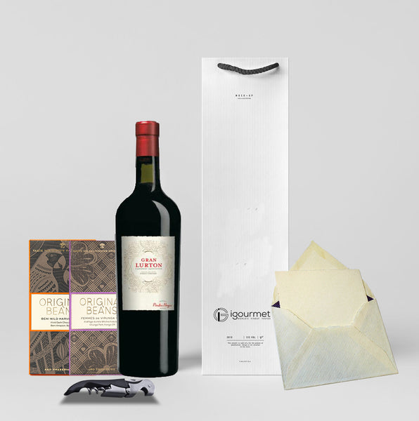 Gran Lurton Wine Gift Set with Original Beans