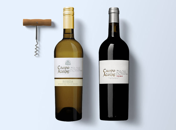 Spain premium wine set red & white
