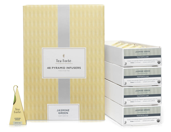 Jasmine Green Tea Event  Box 48 silken pyramid.