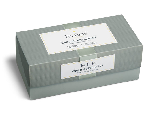 English Breakfast Tea Presentation Box  20 silken pyramid  .