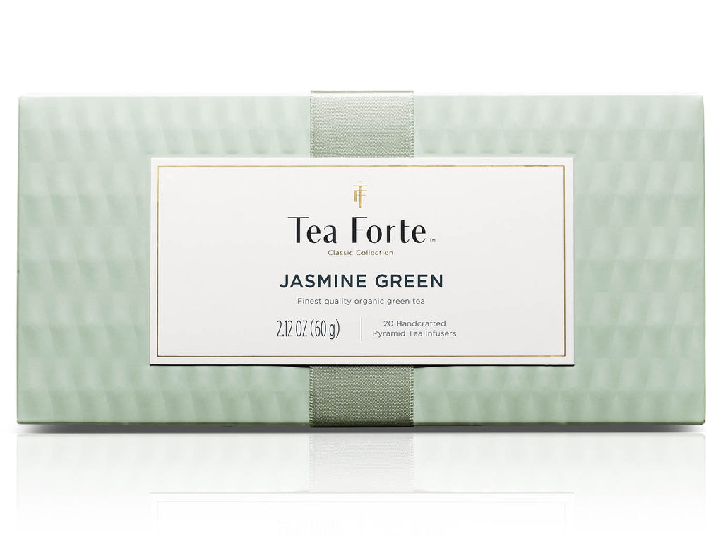 Jasmine Green Tea Presentation Box 20 silken pyramid.