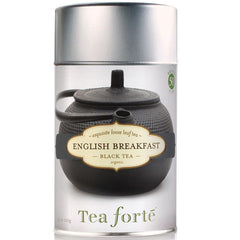 English Breakfast Loose Leaf Organic Tea Canister