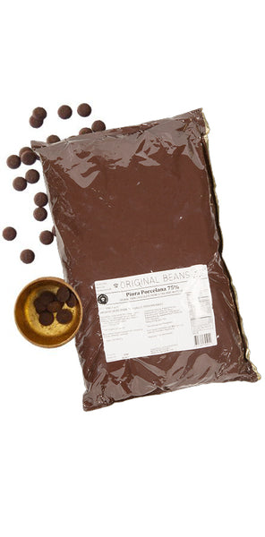 Piura Porcelana Couverture Buttons Chocolate  (75%) 2 kg.