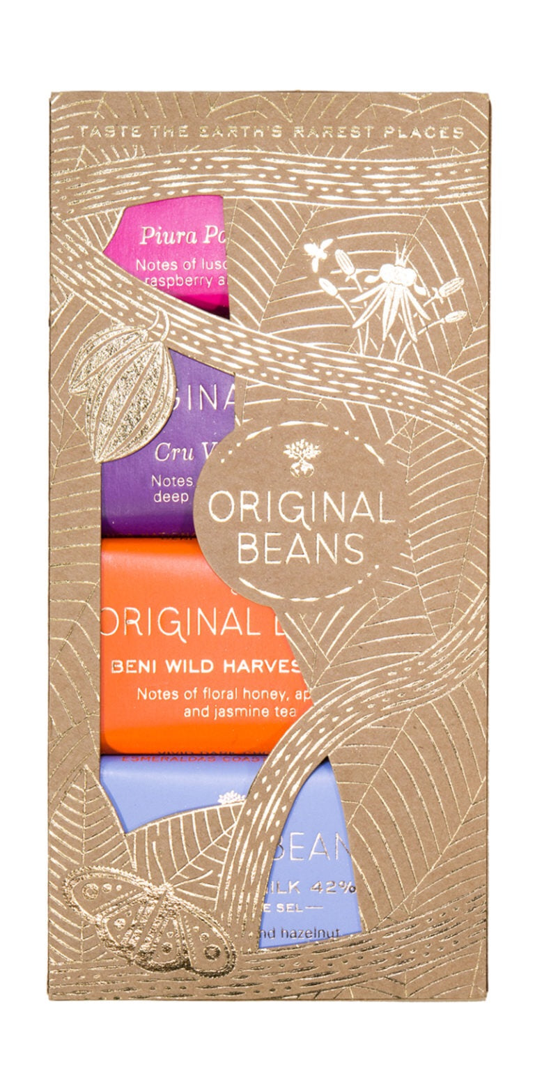 Original Beans Mixed  Minibars Four Varieties 48 gr