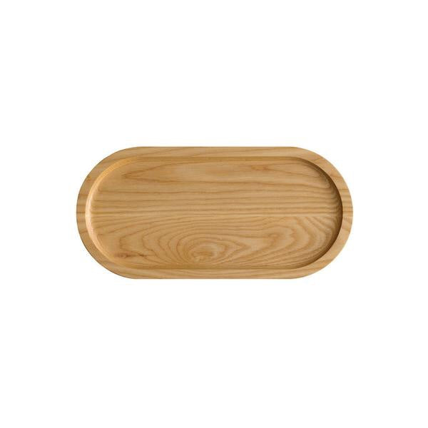 Er-go! Solid Ash Wood Platter (M) (Natural)