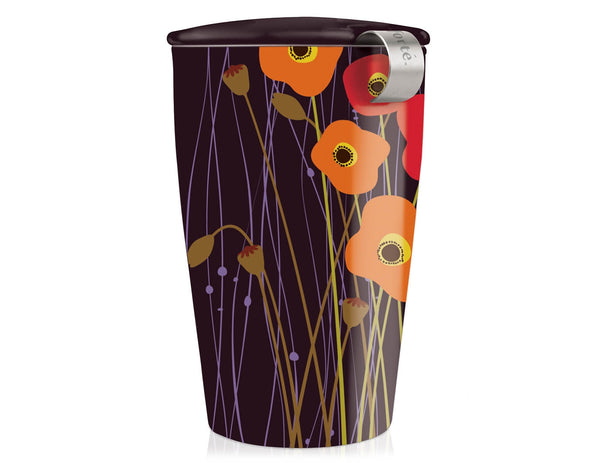 KATI STEEPING CUP & INFUSER POPPY FIELDS