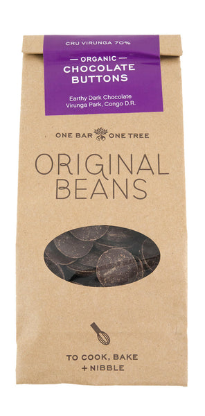 Cru Virunga Chef's Chocolate  Buttons  (70%) 200 gr
