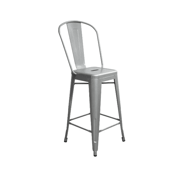 Tremendous Sonic Silver High Back Counter Height Tolix Stool Gmtry Best Dining Table And Chair Ideas Images Gmtryco