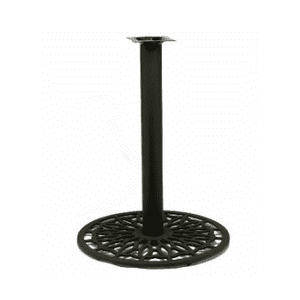 Black Leaf Designer Table Base