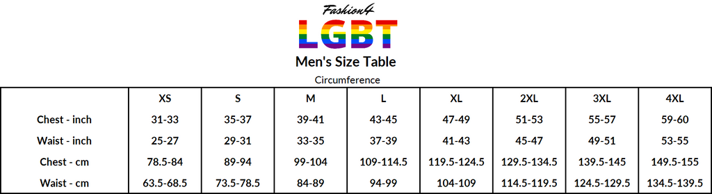 Size Table Men's