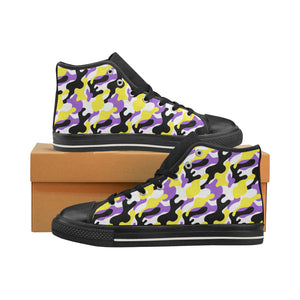 High-Top Sneakers - Non-Binary Camouflage