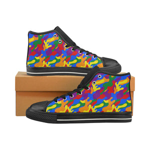High-Top Sneakers - LGBT Camouflage