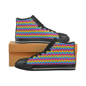 High-Top Sneakers - Pansexual Honeycomb