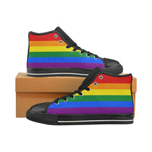 High-Top Sneakers - LGBT Flag Horizontal