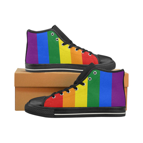 High Tops - LGBT Flag Vertical