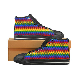 High-Top Sneakers - LGBT Honeycomb