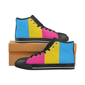High-Top Sneakers - Pansexual Flag Vertical