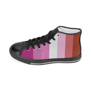 High-Top Sneakers - Lesbian Flag Vertical