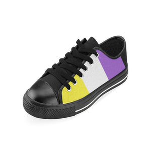 Low Tops  - Non-Binary Flag Vertical
