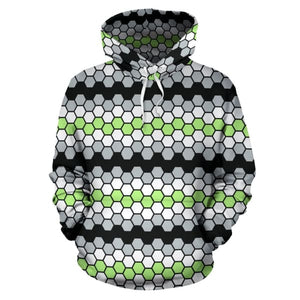 All Over Hoodie - Agender Honeycomb