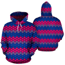 All Over Hoodie - Bisexual Honeycomb