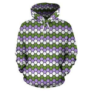 All Over Hoodie - Genderqueer Honeycomb